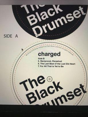 black drumset